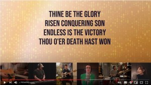 thine be the glory lyric video